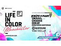 2 x Life in Color Victoria Warehouse Tickets