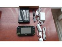 Nintendo Wii U Premium Edition 32GB Black with leads in perfect working order not ps4 xbox one