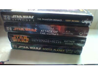 FOUR hardback Star Wars novels in good condition ALL for