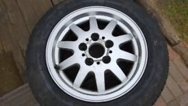 alloy wheel and tyre for bmw 7jx15 205/60 15