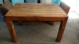 Solid indian sheesham wood dining table