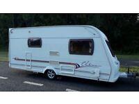 Lunar clubman 470-2 2004 2 berth caravan with motormover