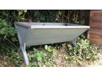 2 large wooden troughs for sale