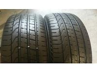 255 40 17 2 x tyres Pirelli P ZERO RUN FLAT