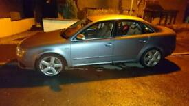 Silver audi a4 s line 163 bhp