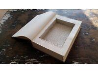Hollow secret compartment safe book