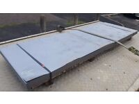 "FLAT GALVANISED SHEETS 8ft X 32"" 102g 10kg EACH, 0.7mm THICK FREE DELIVERY !"