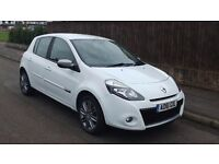 Renault Clio 1.2 16v Dynamique TomTom FSH White Low Mileage Lady Owner 61'Reg 5 Door