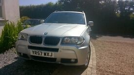 BMW X3 2.0d M SPORT 4x4 FSH MANUAL 82,000 MILES, SILVER, AIR CON