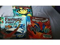 marvel retro character collection pop up books for sale x3. xmen. spider man and fantastic 4