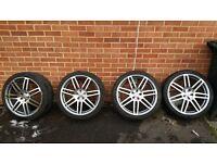 """Audi 20"""" alloy wheels with good tyres. Audi,A4,A5,A6,A7"""