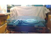 RETRO DYNATRON RECORD PLAYER AND DYNATRON SPEAKERS