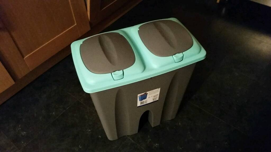 Brand New 25l Recycling Rubish Waste Bin with 2 compartments