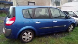 clio 1.5dci and grand scenic 1.9d breaking