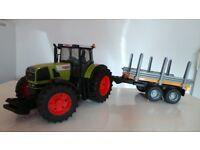 Bruder Claas Tractor Atles 936RZ & Trailer - Toy Model