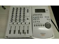 Mixer with track recorder audio mix
