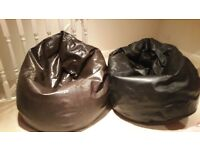 large leather effect bean bags