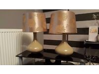 2 x gold lamps