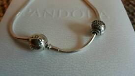 Genuine Essence Pandora Bracelet and charm