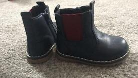 Mothercare Boys navy blue boots, size 4