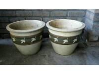Matching pair of Ceramic Planters