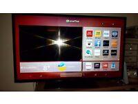 Hitachi 42' smart tv has freeview hd , youtube, facebook, netflix etc