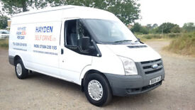 VAN HIRE CHINGFORD - HAYDEN SELF DIVE LTD - SAME DAY HIRE LOW DEPOSIT TRANSIT - LUTON - CONNECT