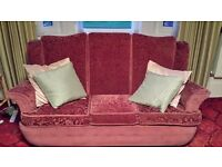 FREE 3 seater sofa and two armchairs