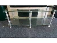 Large Clear Glass Tv Unit/Stand **can deliver