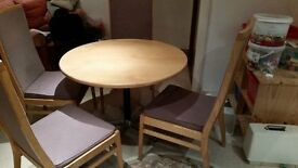4 Chairs and Round Table