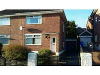 Three bedroom semi detatched house with garage