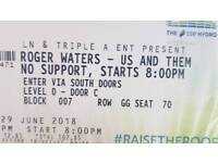 1 x Roger Waters SEE Hydro on the floor! Amazing seats!