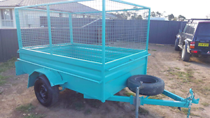 8x5 CAGE ➰TRAILERS FOR HIRE $50 24HRS HIRE HIGH CAGE TRAILERS Kemps Creek Penrith Area Preview