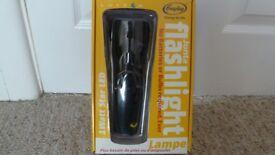 Freeplay wind-up flashlight, torch
