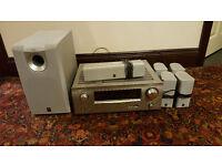 Denon AV1908 AV Receiver + Speakers and Subwoofer