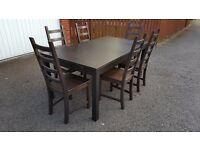 Ikea BJURSTA Extending Table 175cm - 260cm & 6 Kaustby Chairs FREE DELIVERY (02076)