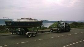 Boat transport,Crane Hire,small,boats,yacht,fishing,lathe,engines,mini crane,transport,