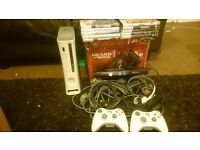 Xbox 360 60gb + Kinect + 10 Games