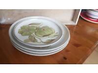 Set 4 denby plates