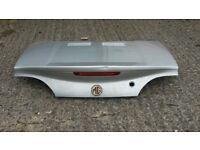 MG TF boot lid. Starlight Silver (MBB). Working break light