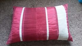 Red stripey cushion
