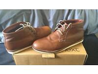 Next Brown Leather Shoes size 10