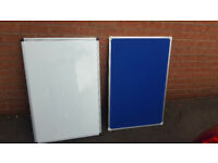 Magnetic White Board and Blue Pin Board