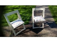 A pair of retro dining or garden chairs. in very good condition 50s or 60s