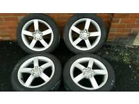 5x100 Seat Alloy Wheels and tyres vw skoda audi