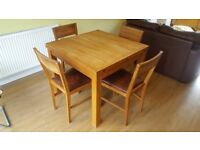 Laura Ashley dining table and chairs.