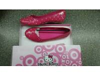 Hello Kitty ladies pink shoes size 5 NEW in box