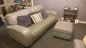 Three seater/two seater and pouffe