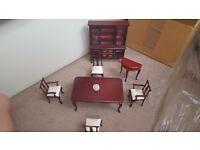 Dolls house furniture set.