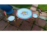 Scratch Lou kids table and chairs Argos